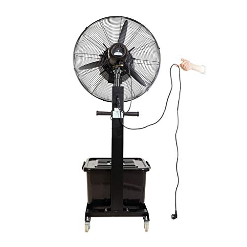 Ventilador nebulizador Exterior terraza Jardin Bar deposito Agua 42 litros/Ventiladores de pedestal/Ventilador...