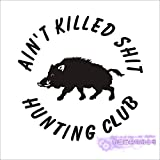 Hunt Sticker Car Hunting Spara Cinghiale Decal Hunter Negozio Poster Vinyl Stickers murali Decor Chase Mural Sticker 58x58cm