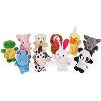 Hosaire Lot de 10 Marionnettes à doigts d'Animaux 10 types différents