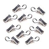 Steellwingsf Vorhänge Clip, 10Pcs Metall Duschvorhang, Zelt und Drape Haken Hanger Klemmen Zubehör