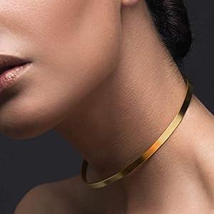 Minimalistische Halskette, Manschettenkette, Choker aus Sterlingsilber, Manschettenhalsband, Silberkette, Braut Halskette, Hochzeit Halskette