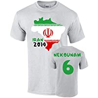 UKSoccershop Iran 2014 Country Flag T-Shirt (nekounam 6)