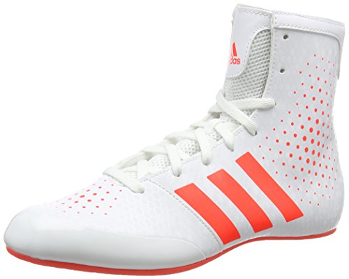Adidas Unisex Adults Ko Legend 16,2 Boxing Shoes, White (White/Orange), 7.5 UK...