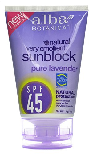 alba-botanica-very-emollient-sunblock-natural-protection-with-organic-lavender-spf-45-113-g-4-oz-by-