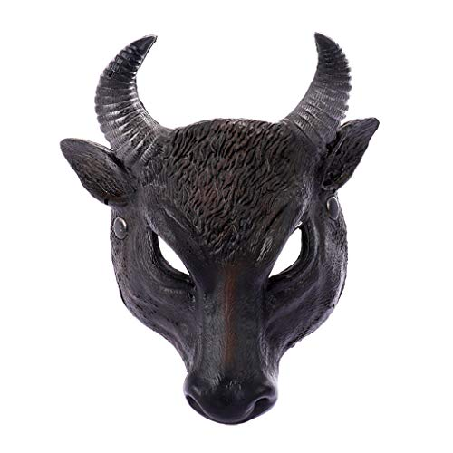 Frauen Kostüm Bösewichte - Selou Unisex Bösewicht Kostüm Party Ball Halloween Karneval Vollgesichts Tiermaske Frauen Männer Buffalo Bull Kopf Maske