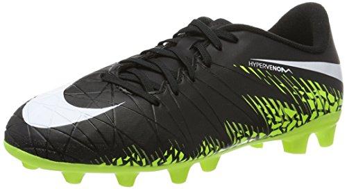 Nike 856460-017, Chaussures de Football Mixte Adulte Noir (Black/white-volt-paramount Blue)