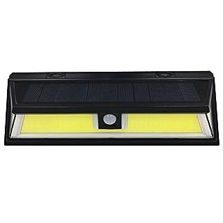 AIHOME COB Solarbetriebene Lampen für Draußen, Wasserfeste Solarlichter Wandleuchte mit 120 Grad-Weitwinkelbewegungssensor für den Garten, die Terrasse, die Beleuchtung von Gehwegen