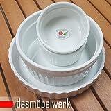 dasmöbelwerk 4 x Pastetenform Muffin Cupcake Ragout Fin Auflauf Form Souffléförmchen Dipschalen 4er Set 78560