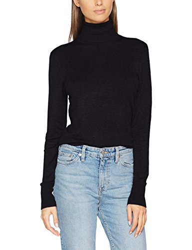 ONLY Damen Onldina L/S Rollneck Pullover Knt, Schwarz (Black Black), 34 (Herstellergröße: XS)