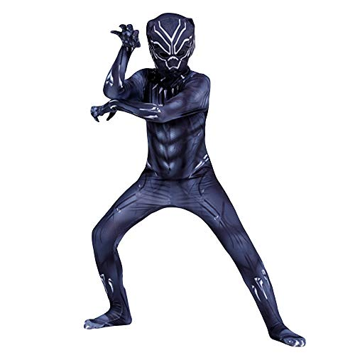 Hope Avengers 3 Black Panther Siamese Strumpfhosen Kinder Erwachsene Cosplay Kostüme Kostüm Halloween Overall Dress Up Zentai,A-XL(130~140 cm)