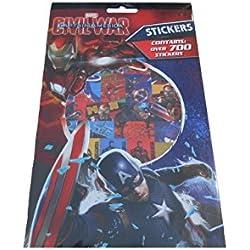 700 pegatinas del Capitán América