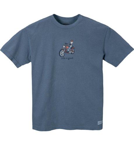 Life Is Good Herren Crusher Tee–Jake Motorrad, Herren, shadow