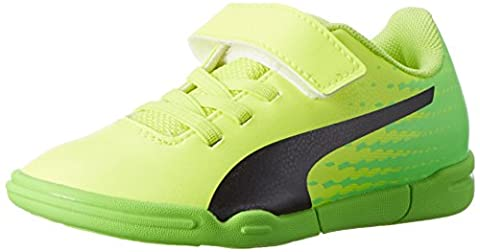 Puma Unisex-Kinder Evospeed 17.5 IT V Jr Fußballschuhe, Gelb (Safety Yellow Black-Green Gecko 01), 35