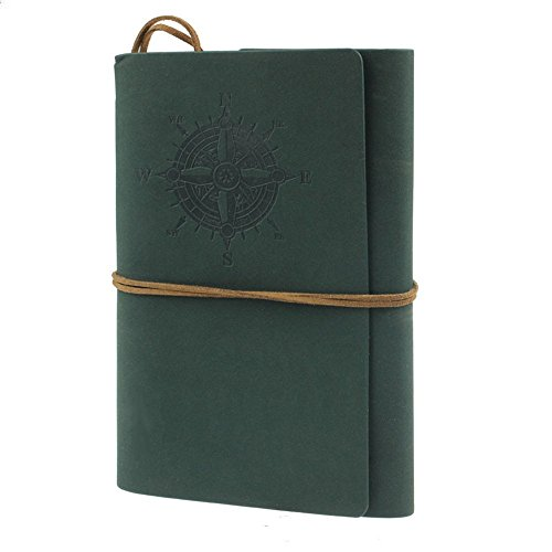 Preisvergleich Produktbild winwintom Retro Leder Notizbuch Tagebuch grün