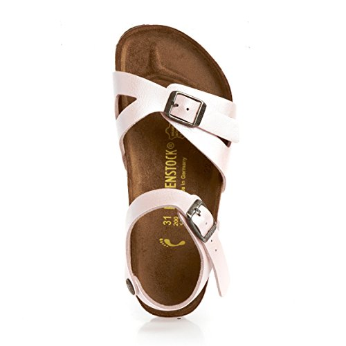 Birkenstock Rio Birko Flor Graceful, Sandales fille Rose