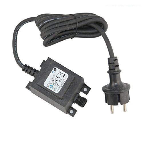 VBLED® 21W Netzteil/Trafo / Transformator 12V AC wassergeschützt IP67 für Außen- & Innenbereich, Input 230V Anschluss IP44 1,9 m Kabel für Gartenspot/Gartenstrahler