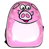 Countryside Boy & Girls Hard Shell Small Animal Backpack with Padded Shoulder Straps Colour Choice Piglet, Frog, Ladybird