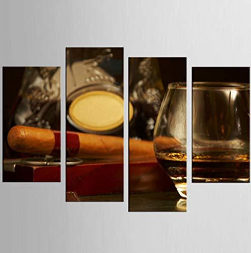 stdruck Foto Zigarre Serie Malerei Leinwanddruck HD Druck Wandbilder Home Decoration @ 40x80 40x100 cm mit Rahmen ()
