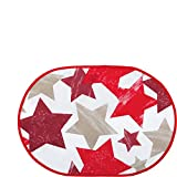 Erwin Müller Tischset 2er-Pack rot Größe oval: 35x50 cm