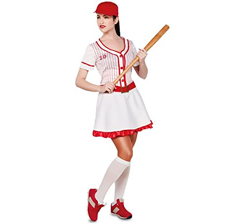 Spieler Kostüm Damen Baseball - Fyasa 706270-T04 Baseball-Kostüm für Mädchen, 12 Jahre, Mehrfarbig