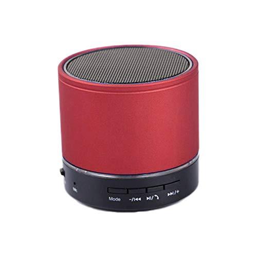 BSDK Tragbarer Bluetooth-Lautsprecher, Mini-Lautsprecher, drahtloser Lautsprecher Bluetooth-Audioempfänger, HD-Anruf, TF-Kartensteckplatz,Red