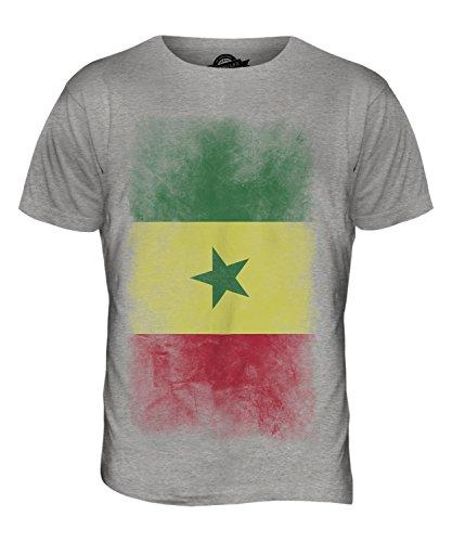 CandyMix Senegal Verblichen Flagge Herren T Shirt Grau Meliert