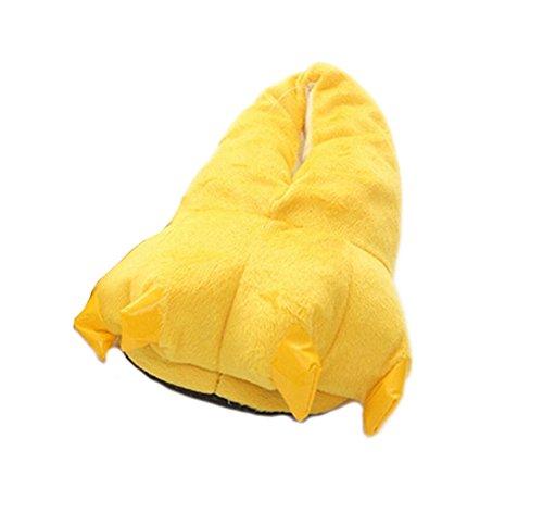 DELEY Unisex Cosplay Tier Kostüm Plüsch Home Hausschuhe Schlafanzug Schuhe Gelb L
