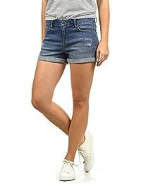 BlendShe Andreja Damen Jeans Shorts Kurze Denim Hose Mit Destroyed-Optik Aus Stretch-Material Regular Fit