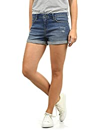 BlendShe Andreja Damen Jeans Shorts Kurze Denim Hose Mit Destroyed-Optik  Aus Stretch-Material 088abe75c2