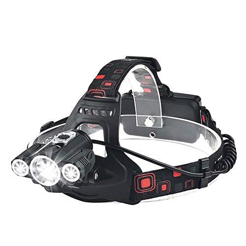 Opmea lampada a led super bright 3 x t6 lampada a led bead 10000 lumen led headlight 4 modalità di illuminazione lampada da campeggio