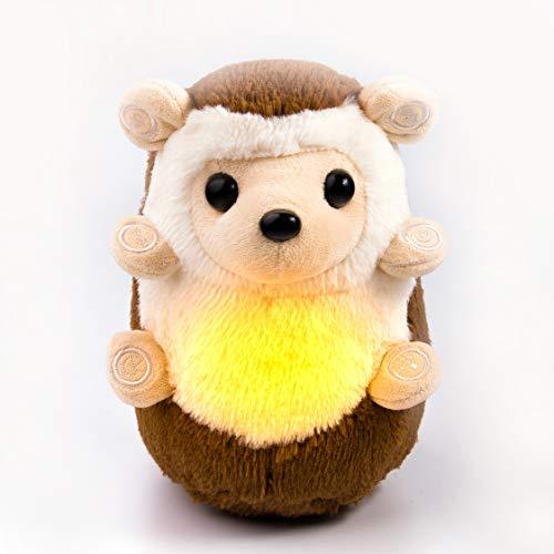 Arbre Bambino - Simon le Hérisson - Aide au sommeil pour bébé, veilleuse et appareil à sons apaisant - Inclut les bruits blancs et les battements de coeur - Meilleur sommeil des bébés et de la famille