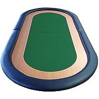 Poker plegable de mesa particularmende velocidad 8 jugadores tela cuero resto superficie verde