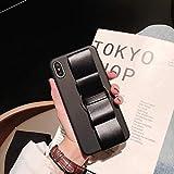 RZL Housses et étuis pour iPhone 6 7 8 X Series, Coque Coque Arrière Coquille Arrière Texturée en Couleur Noir Solide (Couleur : Noir, Size : iPhone XS)