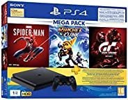 PS4 1TB Slim Bundled with Spider-Man, GTaSport, Ratchet & Clank And PSN 3M