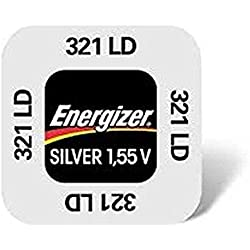 ENERGIZER Blister de 10 Pile Montres Oxyde d'Argent 321 SR65 SR616SW