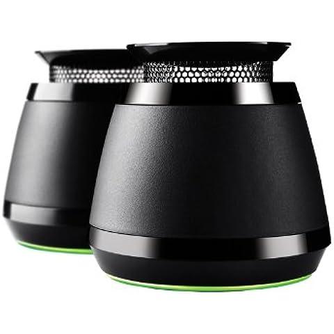 Razer Ferox 2014 - Altavoces Portátiles 2.0, Externo, 3 Cm, 6W, 150 - 20000 Hz, Alámbrico, Color Negro (PC)