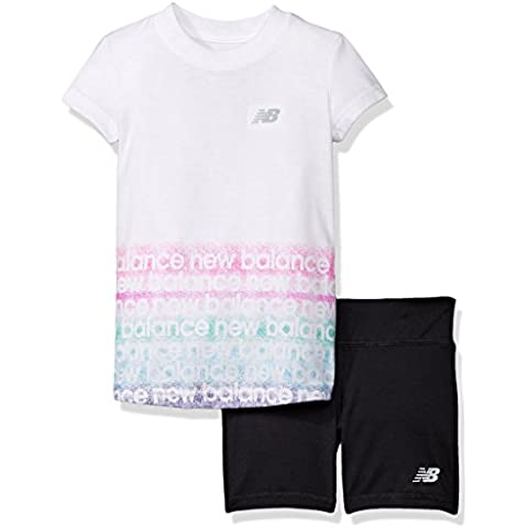 New Balance Little Girls' Short Sleeve Athletic Graphic T-Shirt and Short Set