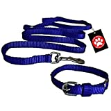 #3: Pawzone Nylon Leash With Collar Set For Puppy - Blue