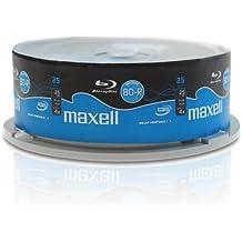 Blu-ray Disc Maxell BD-R 25 GB, 1-4x de velocidad, imprimible (fullprintable), en Tarrina, 25 unidades