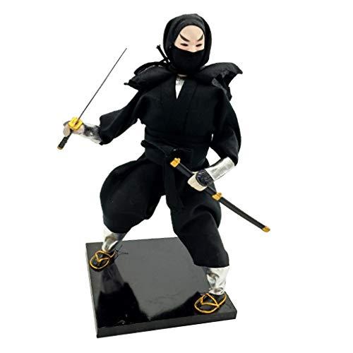 P Prettyia Handgemachte Sammfigur Japanische Samurai Ninja Figur Volkshandwerk Tisch Dekoration - 12 Zoll - # 5