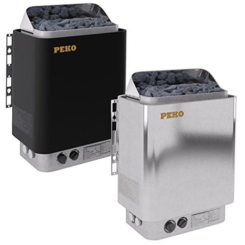 PEKO Saunaofen - EH45 4,5 kW mit integrierten Steuergerät, Schwarz