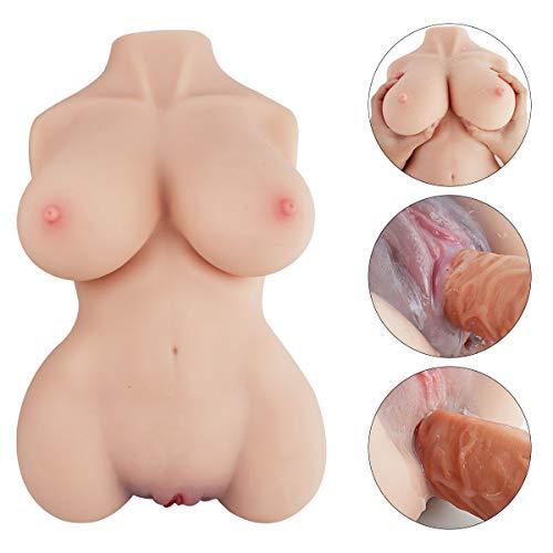 Sexpuppe, PALOQUETH Masturbator mit enger vaginaler und analer Öffnung, 3 in 1 Sexspielzeug für Männer. Hergestellt aus realistischem Silikon mit großen Brüsten