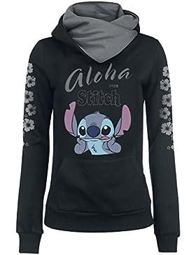 Lilo & Stitch Aloha From Stitch Jersey con Capucha Mujer negro/gris