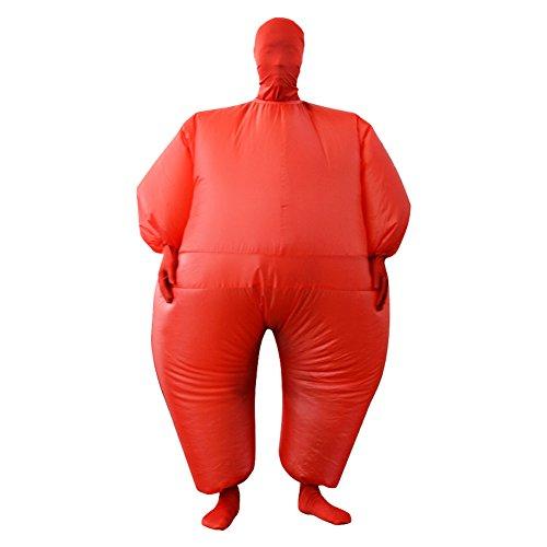 Para mayores de traje de Color Chub hinchable Blow Up de cuerpo entero para disfraz infantil de 5 colores incluye el mono, color rosso, tamaño Tamaño libre