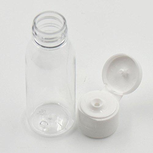 20pz 30ml 50ml vuote bottiglie di plastica dura parziale scelta spedizioni viaggio turno vite copertura, 50 ml