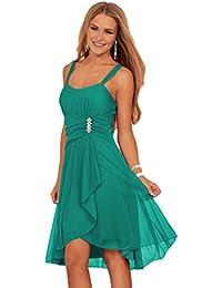 Ärmelloses Schick Elegantes Junior Abend Ball Falten Kleid Mit Spaghetti Trägern