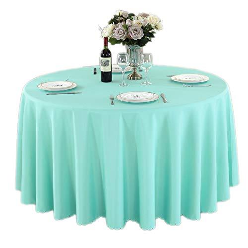 GUTT Runde Tischdecke Camping einfarbig Tischdecke Weiß Tischdecke Hotel Party Hochzeit Tischdecke Esstisch und Couchtisch Abdeckung, Synthetisch, Tiffany Blue, Round 140cm Diameter