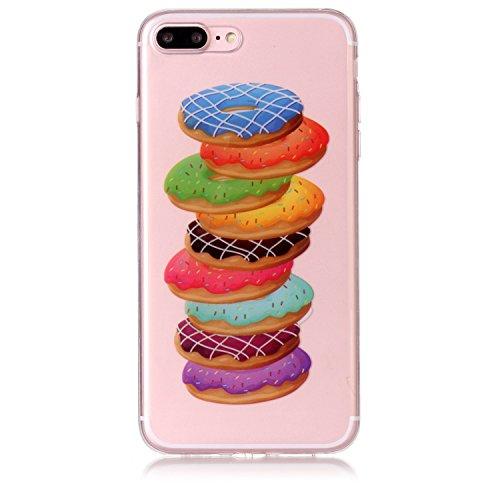 iPhone 7 Plus Hülle, Voguecase Silikon Schutzhülle / Case / Cover / Hülle / TPU Gel Skin für Apple iPhone 7 Plus/iPhone 8 Plus 5.5(Bunte Feder 15) + Gratis Universal Eingabestift Donuts 13