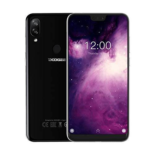 DOOGEE N10 4G Dual Sim Smartphone ohne Vertrag , Android 8.1 Handy with 19:9 5,84'' FHD+(1080*2280) U-Notch, Octa-Kern 3GB RAM 32GB ROM, 16MP+13MP+16MP Kameras, 3360mAh Fingerabdruck Face ID - Schwarz (16 Mp Kamera)