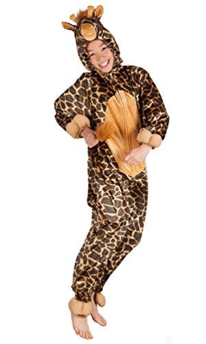 Plüsch Giraffe Kostüm Kinder - Karneval-Klamotten Giraffe Kostüm Kinder aus Plüsch